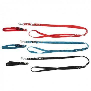 Chrisco Hundehalsbånd med snaplås og line i nylon, 25-40 cm/220 cm