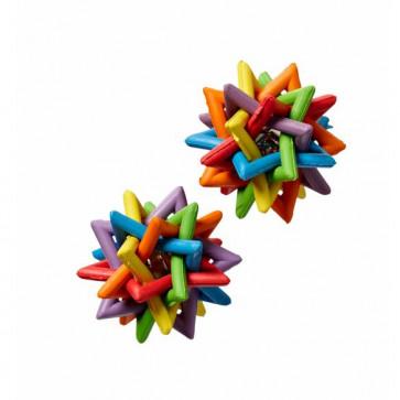 Chrisco Kludremor formet som stjerne og med klokke, Ø 5 cm
