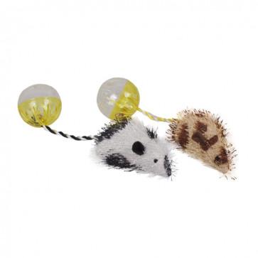 Chrisco Plysmus med raslelyd & katteurt, 18 cm