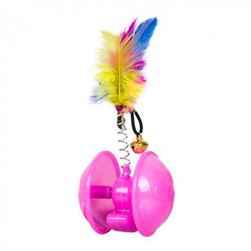 Chrisco Aktivitetslegetøj med klokke & fjer, 13 cm