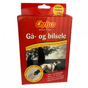Chrisco Gå- og bilsele, 18-40 cm