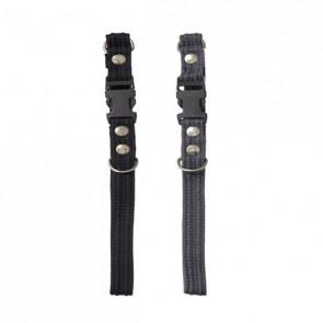 Chrisco Hundehalsbånd med snaplås (clickspænde), webbing, 35-60 cm