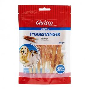 Chrisco Tyggestænger m. kylling, 80 g ℮