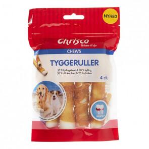 Chrisco Tyggeruller med kyllingelever & kylling, 100 g e