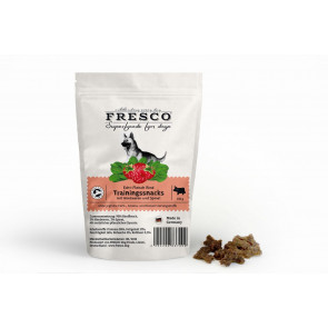 Fresco Training Mini Bones Beef with Raspberries and Spinach - Træningsgodbidder med oksekød, hindbær og spinat, 150 g ℮