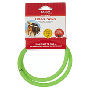 Chrisco LED-halsring i grøn, 70 cm