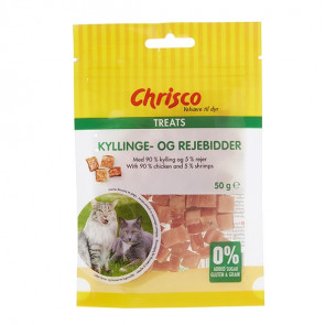 Chrisco Kyllinge- og rejebidder, 50 g ℮
