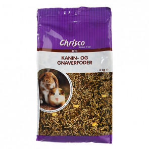 Chrisco Kanin- og gnaverfoder, 3 kg e